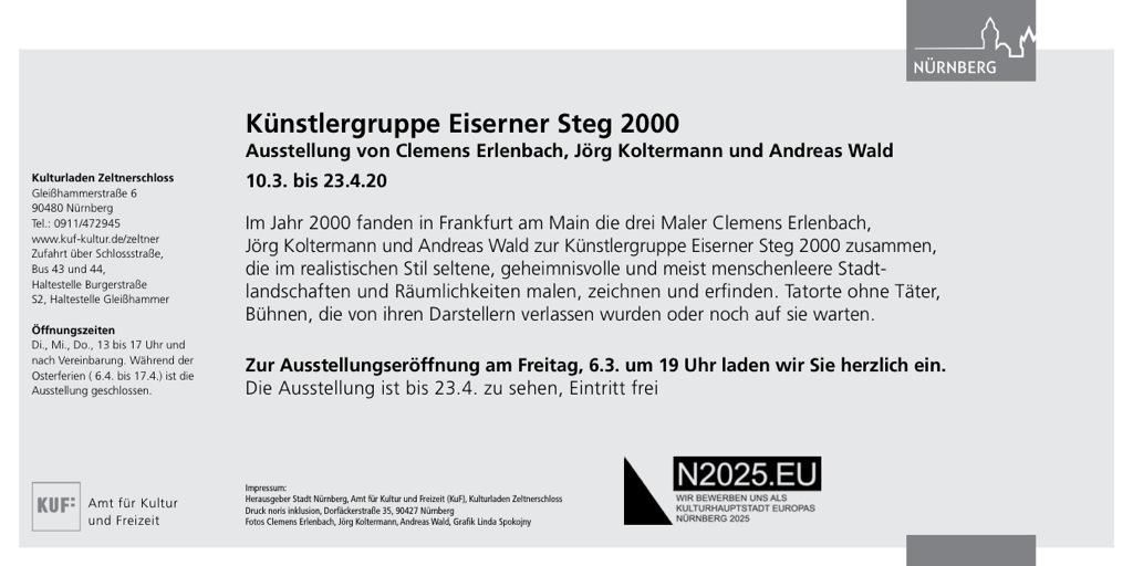 Eiserner Steg Nürnberg 2020